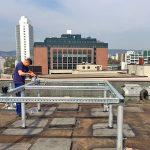 Einbringung einer Kältemaschine für die Klimatisierung eines Bürogebäudes